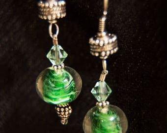 Fern: Green Earrings