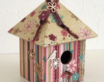 "Decorative birdhouse ""Autumn flowers"""