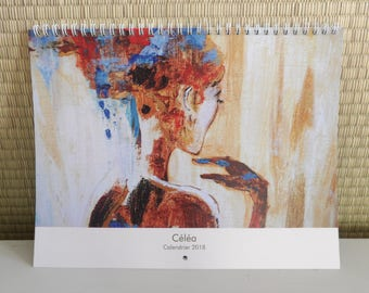 Calendar 2018 - 21 x 28 cm (size of the cover) - glossy paper