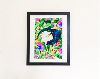 Gecko Illustration Print