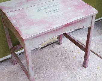 Chalk painted vintage shabby chic desk