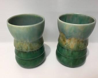 Beswick Pair of ARRAN vases designed in 1933 Shape Number 68