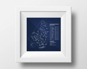 Digital Download - Augusta National Golf Club Course Map