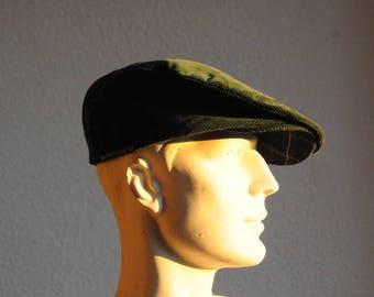 vintage Green Velvet size 56 Cap