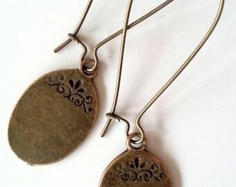 Tan earrings 5
