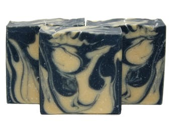 Grime Time | Mechanic Gift Activated Charcoal Pumice Soap | Homemade Exfoliating Luxury Artisan Soap | Soap for Oily Skin | Black Soap Scrub