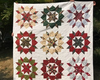 Homemade Christmas/ holiday quilt
