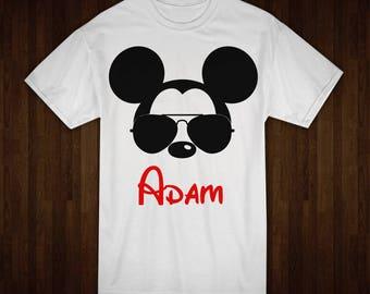 Men's Mickey Mouse Tee, Disney Trip, Custom Disney Tshirt, Family Vacation, Personalized Tshirt