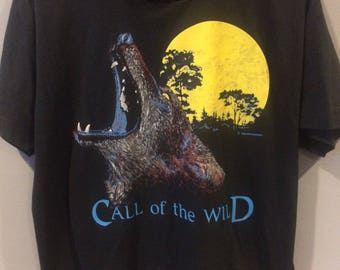 1989 Call of the Wild wolf tshirt