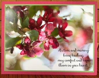 Sympathy Apple Blossom Birthday Cards-Set of Two