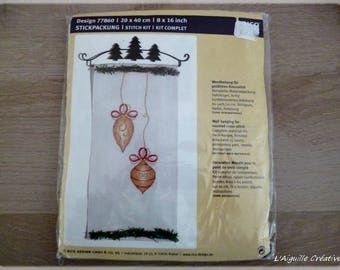 "New ""Christmas banner"" cross stitch Kit"
