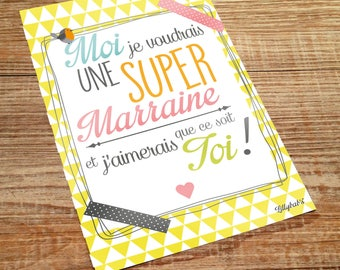 postcard super godparents super card