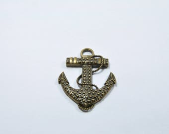 BR80 - 1 large charm anchor bronze metal