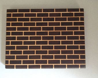 End Grain Cutting Board - Brick Pattern