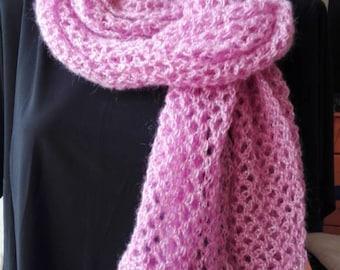 Purple crochet scarf, Purple scarf, Purple acrylic scarf, autumn scarf, handmade scarf, women scarf, women birthday gift, girl gift, scarf