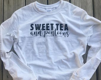 Sweet Tea & Pontoons Tshirt