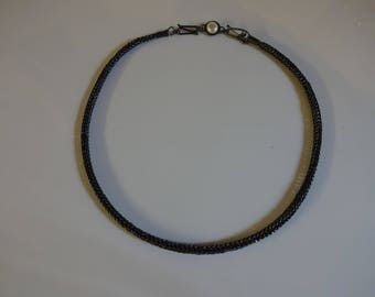 Oxidized handmade snake chain