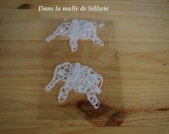 applique elephant balncs crochet for scrapbooking embellishment
