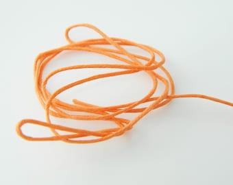 Color orange (l456) 60cm waxed cotton thread