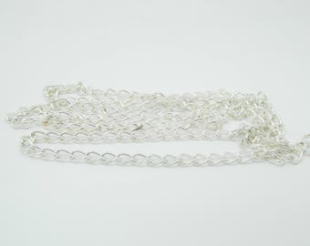 Silver chain link big 6mm x78cm (911)