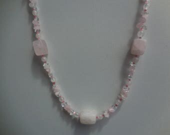 pale pink agate necklace