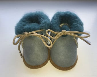 Shearling Baby Booties