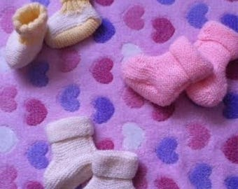 BABY BOOTIES WOOL VARIOUS COLORS