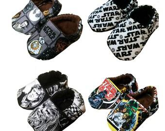 New Star War Logo Han Solo Chewbacca Baby Girls Boys Handmade Booties Slippers Crib Shoes 2-12c 0-24M 3T-5T