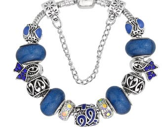 Rheumatoid Arthritis Awareness Handmade Charm Bracelet 22cms
