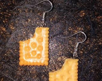 chewed cookie earring