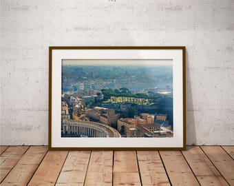 Metal Print - Rome, City View Photography - Metalic Aluminum Print, Fine Art, Wall Art, Nature Print, Home Decor, Photography
