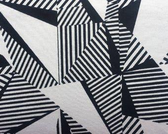 Grey-White Geometric - cotton jersey