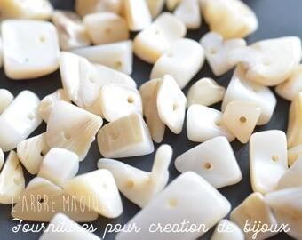 10 g combines ships (pebbles) color ecru