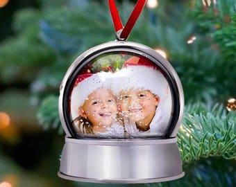Snowglobe Ornament, Photo Ornament, Magnetic