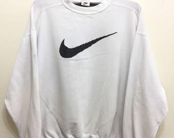 Vintage 90s Nike Big Logo Sweatshirt / Big Swoosh Nike