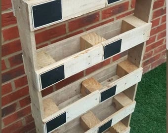Made to Order Vertical herb garden with chalk boards