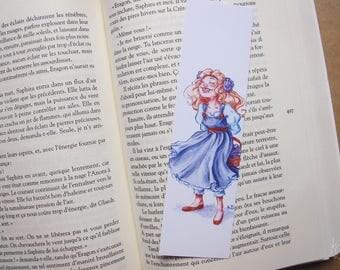 Bookmark - girl in blue dress