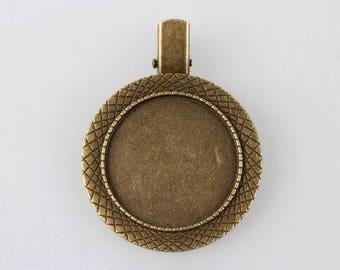 30mm bronze brooch back clip