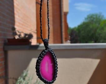 Fuschia Agate Necklace