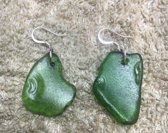 Beautiful Lake Michigan Handmade Sea Glass Earrings