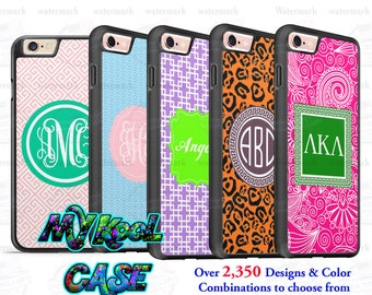 Custom Monogram Silicone Shockproof iPhone Case Personalized for iPhone 7, iPhone 7 PLUS, iPhone 6s PLUS, iPhone 6s, iPhone SE etc
