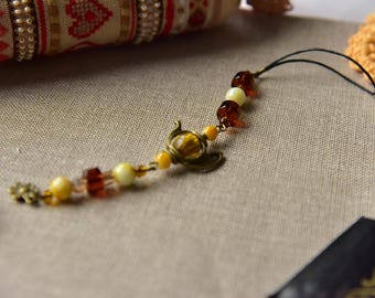 "Scissor fob, scissors pendant ""vintage tea"", cross stitch, gift. Scissors FOB"