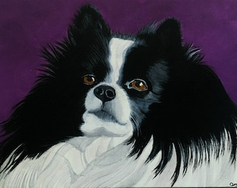 "Custom Pet Portraits - Acrylic on Canvas 8"" x 10"""