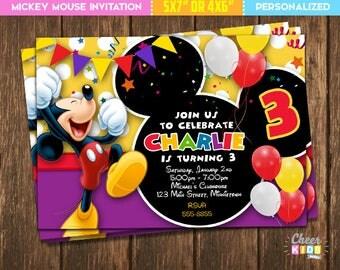 Mickey mouse invites Etsy