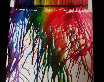 MeltedRainbow - Melted Crayon Art