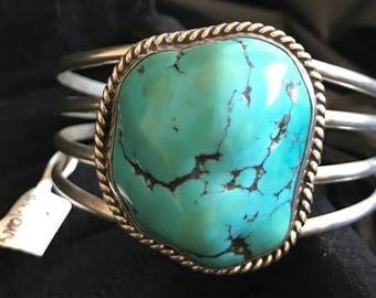 Sterling Boulder Turquoise Cuff Bracelet