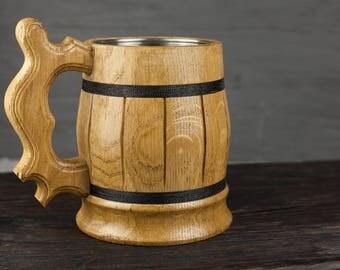 wooden beer mug personalized groomsmen wooden gift wood mug wood beer tankard