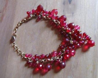 1960s red jewel vintage necklace