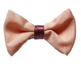 PIN women hair clip Butterfly pink Burgundy Red Ribbon bow