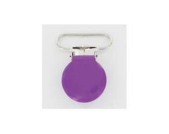 25mm purple clip baby pacifier clip